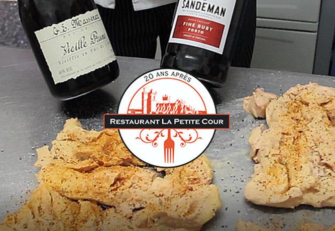 Le foie gras à La Petite Cour...